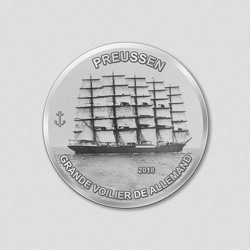 Windjammer - Preussen - 2018 - Silbermünze - Numiversal