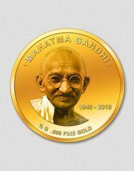 Mahatma Gandhi - 70. Todestag 2018 - Goldmünze - Numiversal
