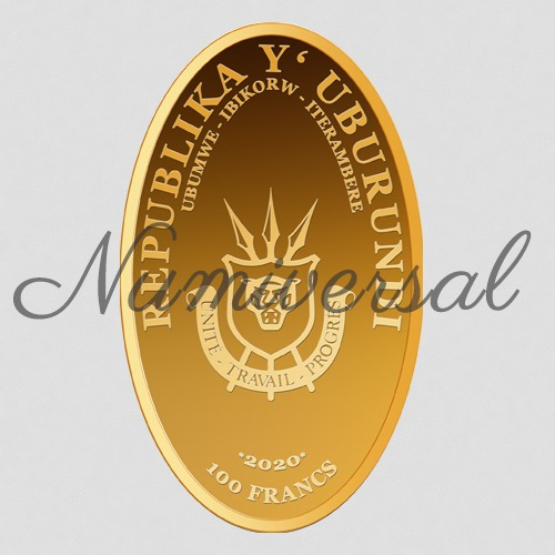 Burundi gold 2020 oval hochkant