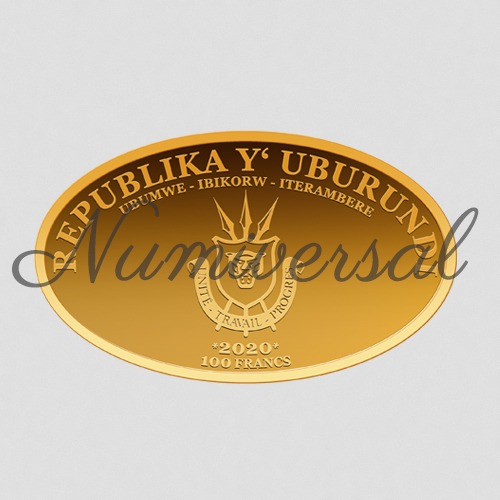 Burundi gold 2020 oval