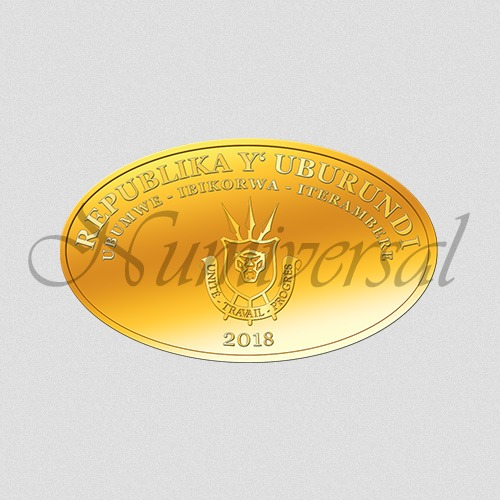 Wappenseite Burundi - Gold Oval - 2018