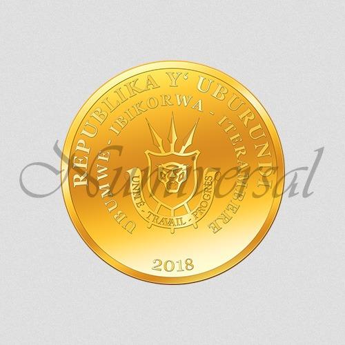 Wappenseite Burundi - Gold - 2018