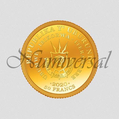Wappenseite - Burundi - Gold - 2020