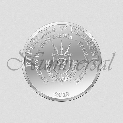 Wappenseite Burundi - Silber - 2018