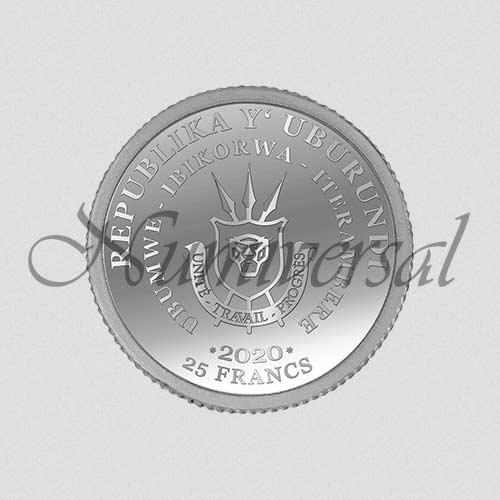 Wappenseite Burundi Silber 25 Francs
