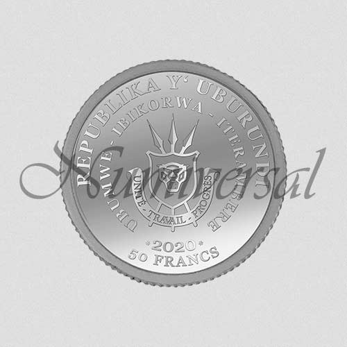 Wappenseite Burundi Silber 50 Francs