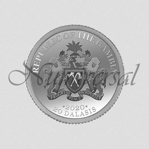 Wappenseite Gambia Silber 20 Dalasis