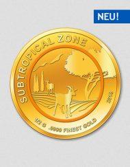 Subtropische Zone - Ziege - Goldmünze 2018 - Numiversal