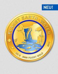Planet Erde - Wasser - 2017 - Goldmünze - Numiversal