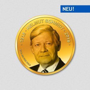 Helmut Schmidt - 100. Geburtstag - Goldmünze - Numiversal