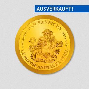 Pan Paniscus - Bonobo - Goldmünze - Numiversal