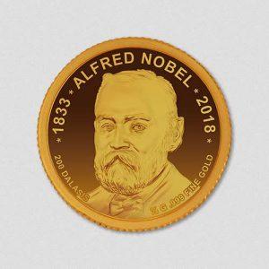 Alfred Nobel - Goldmünze - 2018 - Numiversal