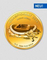 Kasan Arena - Fußballweltmeisterschaft Russland 2018 - Goldmünze - Numiversal