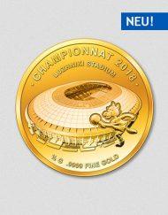 Luschniki Stadion - Fußballweltmeisterschaft Russland 2018 - Goldmünze - Numiversal