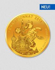 Fußball WM 2018 Russland - Goldmünze - Numiversal