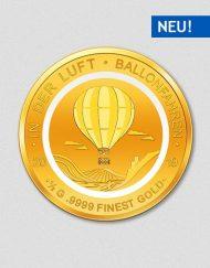 In der Luft - Ballonfahren - Goldmünze - 2019