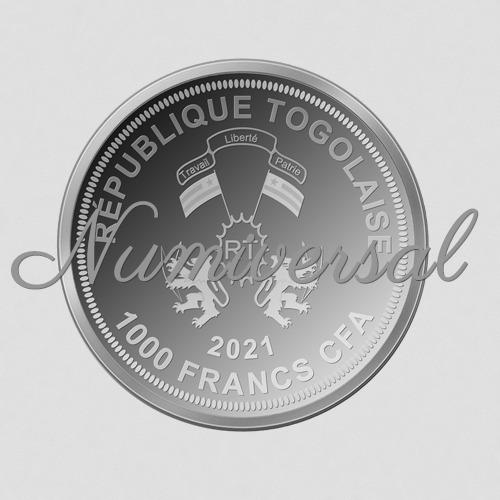 Togo 2021 1000 Francs Silber