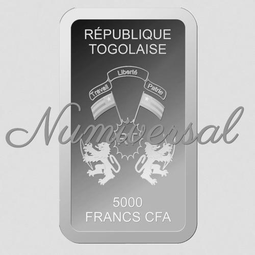 Togo Silberbarren hochkant