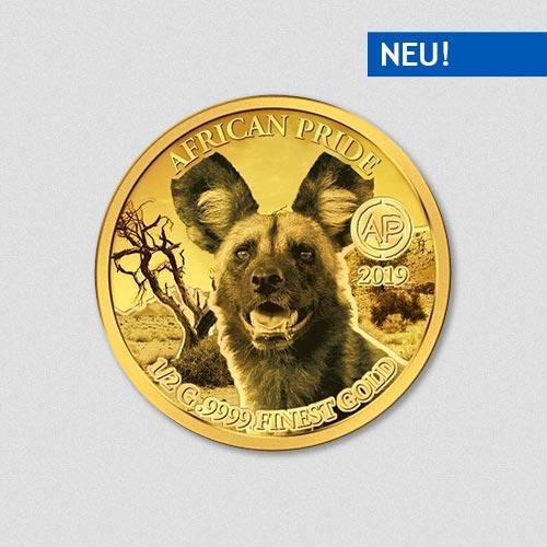 African Pride - Wildhund - Goldmünze - 2019 - Numiversal