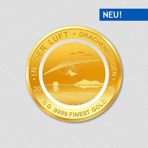 In der Luft - Drachenfliegen - Goldmünze - 2019
