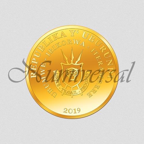 Wappenseite - Burundi - Gold - 2019