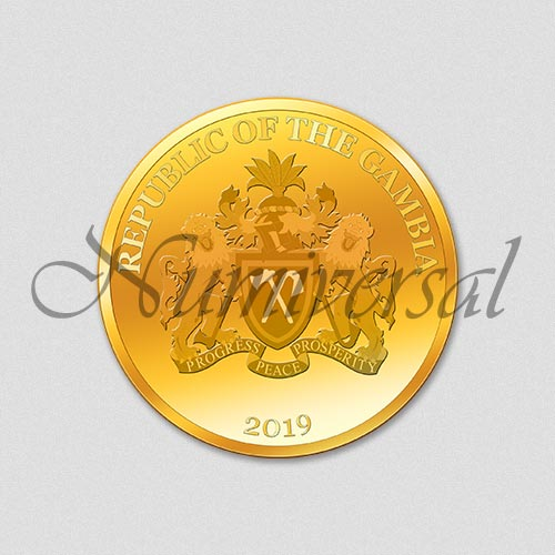 Wappenseite - Gambia - Gold - 2019