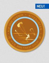 Auf dem Wasser - Kitesurfen - Goldmünze - Numiversal