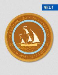 Auf dem Wasser - Traditionssegeln - Goldmünze - Numiversal
