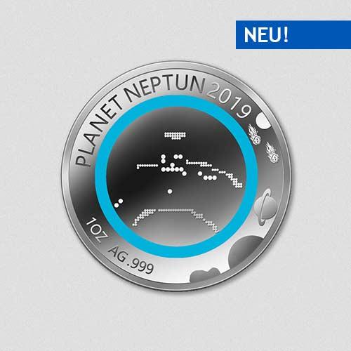 Unsere Planeten - Neptun - 2019 - Silber - Numiversal