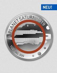 Unsere Planeten - Saturn - 2019 - Silber - Numiversal