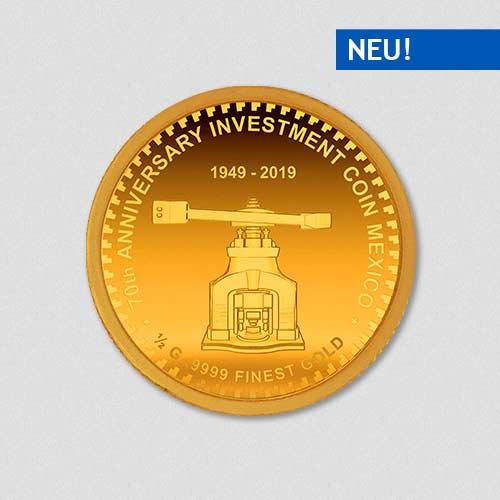 70. Jahre - Prägestock Mexiko - Goldmünze - Numiversal