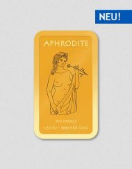 Griechische Götter - Aphrodite - Goldbarren - Numiversal