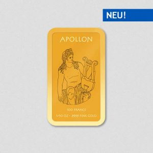 Griechische Götter - Apollon - Goldbarren - Numiversal