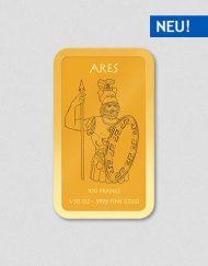 Griechische Götter - Ares - Goldbarren - Numiversal