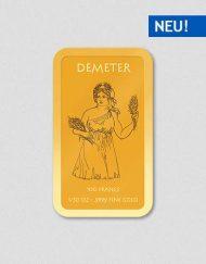 Griechische Götter - Demeter - Goldbarren - Numiversal