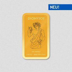 Griechische Götter - Dionysos - Goldbarren - Numiversal