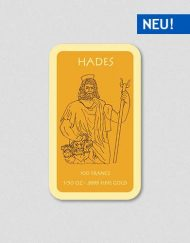 Griechische Götter - Hades - Goldbarren - Numiversal