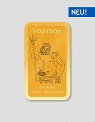Griechische Götter - Poseidon - Goldbarren - Numiversal