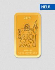 Griechische Götter - Zeus - Goldbarren - Numiversal