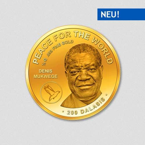 Peace for the World - Denis Mukwege - Goldmünze - Numiversal