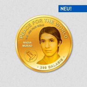Peace for the World - Nadia Murad - Goldmünze - Numiversal