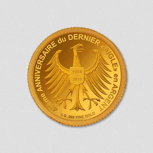 45. Jahrestag - Abschied Silberadler - Goldmünze - Numiversal