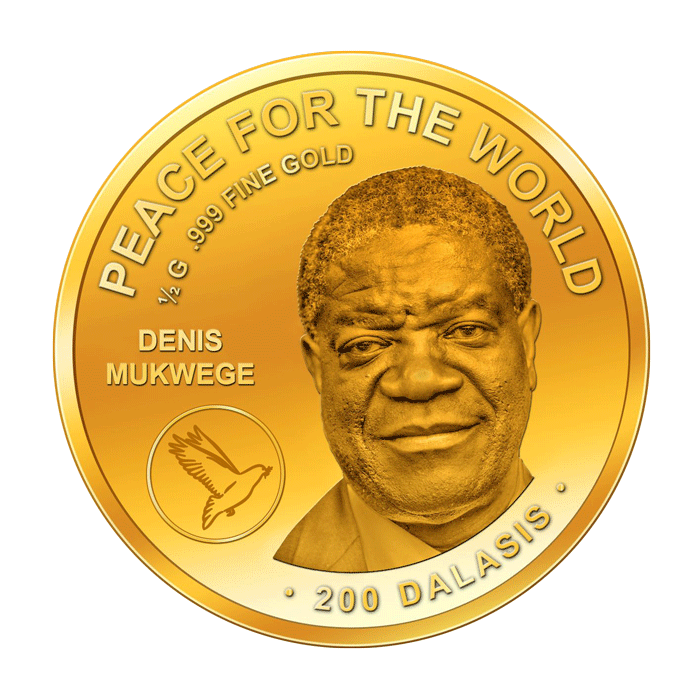 Peace for the World - Denis Mukwege - Goldmünze - Numiversal
