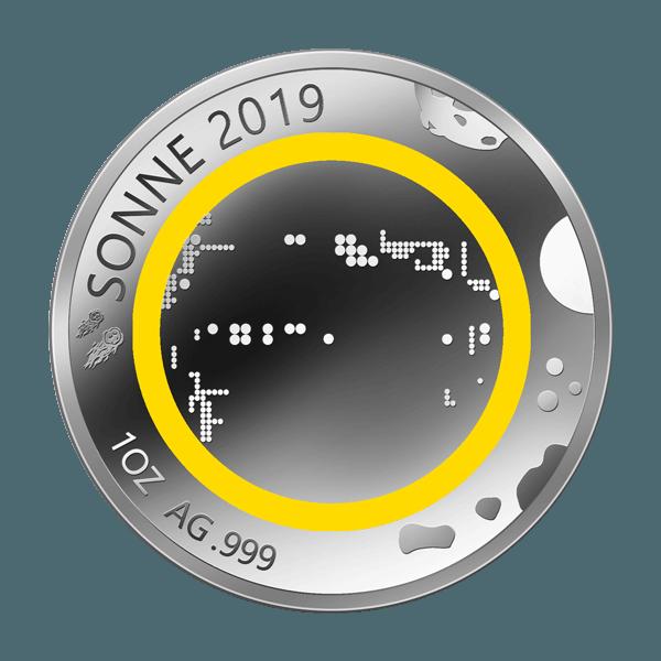 Unsere Planeten - Sonne - 2019 - Silber - Numiversal