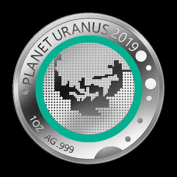Unsere Planeten - Uranus - 2019 - Silber - Numiversal