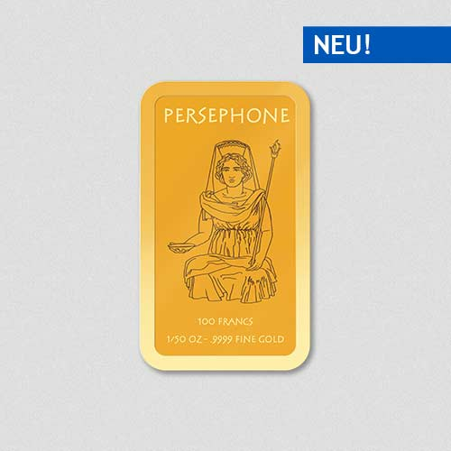 Griechische Götter - Persephone - Goldbarren - Numiversal