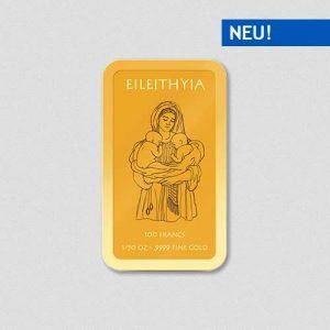 Griechische Götter - Eileithyia - Goldbarren - Numiversal