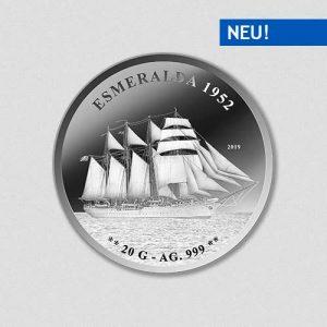 Schiff Esmeralda - Silbermünze - Numiversal