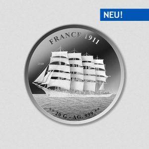 Schiff France 1911 - Silbermünze - Numiversal