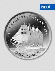 Schiff Sebastian De Elcano 1927 - Silbermünze - Numiversal